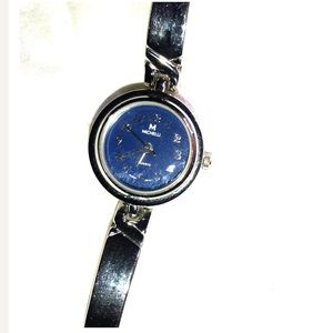Stainless steel and silver Michelli watch like new